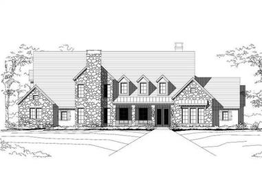 4-Bedroom, 6525 Sq Ft Country Home Plan - 156-1482 - Main Exterior