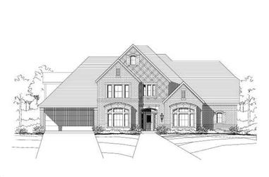 5-Bedroom, 4805 Sq Ft Luxury Home Plan - 156-1483 - Main Exterior