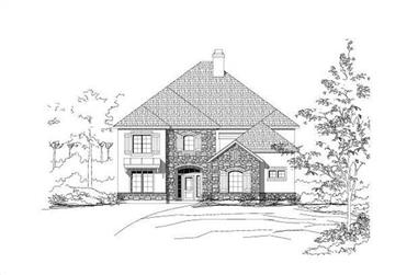 4-Bedroom, 3947 Sq Ft Country Home Plan - 156-1484 - Main Exterior