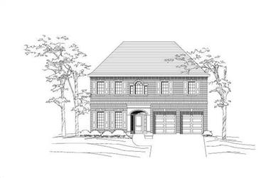 3-Bedroom, 4089 Sq Ft Luxury House Plan - 156-1485 - Front Exterior