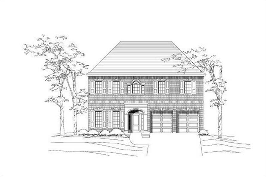 Main image for house plan # 19141