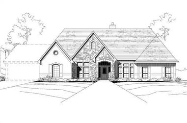 4-Bedroom, 3241 Sq Ft Country House Plan - 156-1486 - Front Exterior