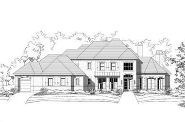 5-Bedroom, 4552 Sq Ft In-Law Suite House Plan - 156-1488 - Front Exterior