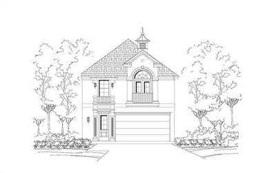 3-Bedroom, 1897 Sq Ft Multi-Level House Plan - 156-1489 - Front Exterior