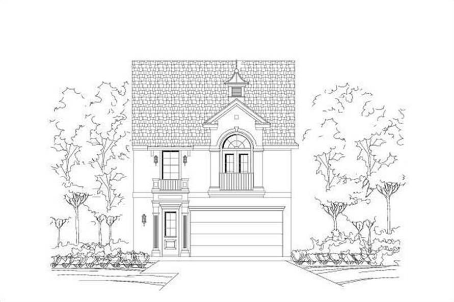 4-Bedroom, 2294 Sq Ft Multi-Level Home Plan - 156-1490 - Main Exterior
