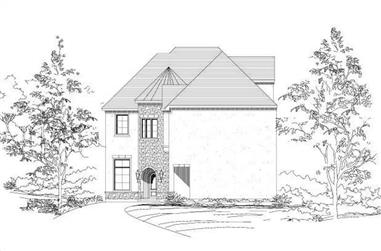 4-Bedroom, 3595 Sq Ft Tuscan House Plan - 156-1492 - Front Exterior