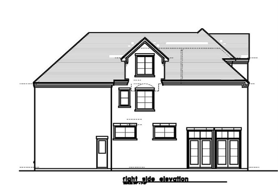 Home Plan Right Elevation of this 4-Bedroom,3595 Sq Ft Plan -156-1492