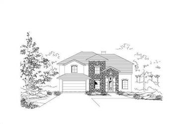 4-Bedroom, 3523 Sq Ft Country Home Plan - 156-1494 - Main Exterior