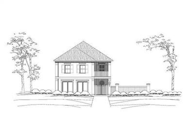 3-Bedroom, 3651 Sq Ft Luxury Home Plan - 156-1497 - Main Exterior