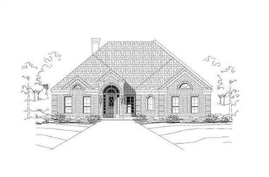 5-Bedroom, 3433 Sq Ft Luxury House Plan - 156-1498 - Front Exterior