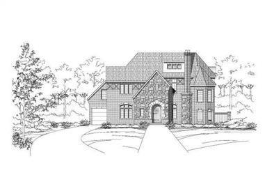 3-Bedroom, 5380 Sq Ft Country House Plan - 156-1500 - Front Exterior
