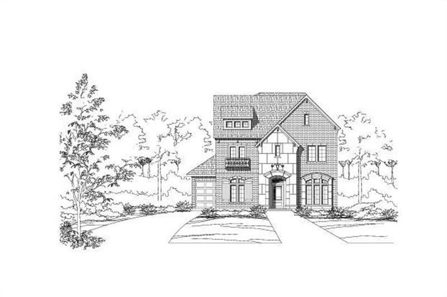 4-Bedroom, 3651 Sq Ft Country House Plan - 156-1501 - Front Exterior