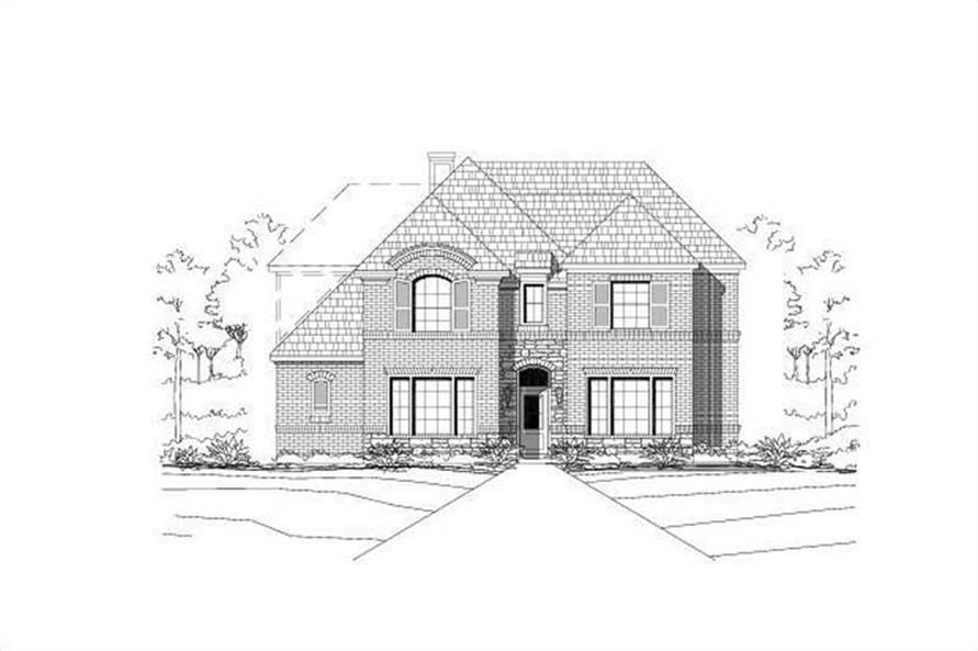 4-Bedroom, 3465 Sq Ft Country House Plan - 156-1502 - Front Exterior