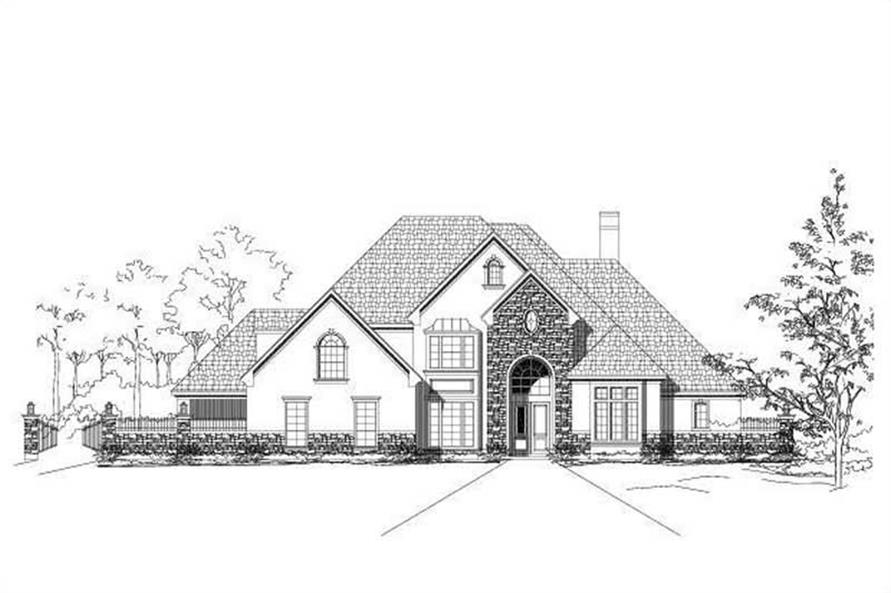 4-Bedroom, 5527 Sq Ft Luxury Home Plan - 156-1504 - Main Exterior