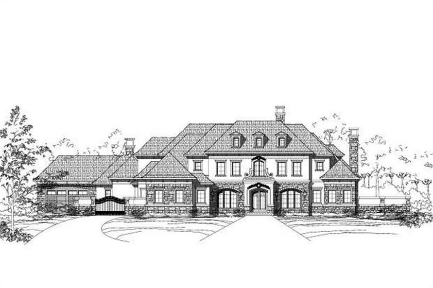 4-Bedroom, 6899 Sq Ft Luxury Home Plan - 156-1505 - Main Exterior
