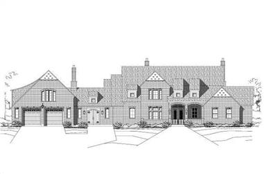 2-Bedroom, 3467 Sq Ft Luxury House Plan - 156-1506 - Front Exterior