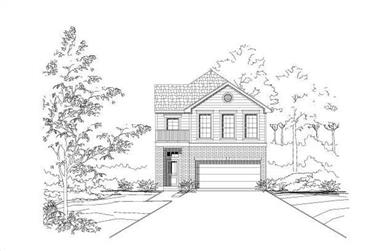 3-Bedroom, 1925 Sq Ft Multi-Level House Plan - 156-1507 - Front Exterior