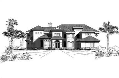 7-Bedroom, 8362 Sq Ft Luxury House Plan - 156-1512 - Front Exterior