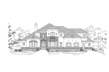 5-Bedroom, 6583 Sq Ft Tuscan Home Plan - 156-1517 - Main Exterior