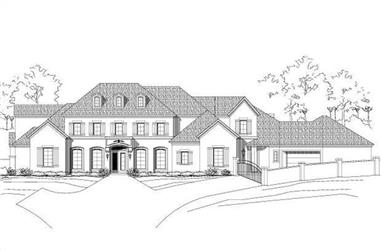 4-Bedroom, 6233 Sq Ft Luxury House Plan - 156-1519 - Front Exterior
