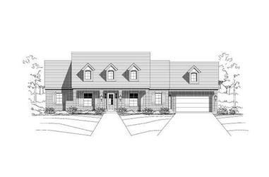 4-Bedroom, 2410 Sq Ft Ranch House Plan - 156-1520 - Front Exterior