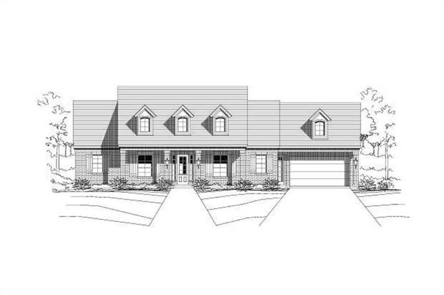 Main image for house plan # 19005