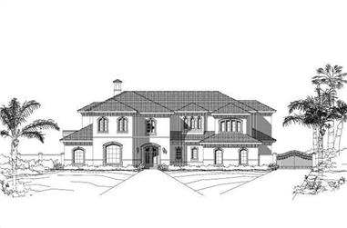 5-Bedroom, 7950 Sq Ft Luxury House Plan - 156-1521 - Front Exterior