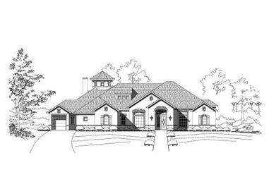 4-Bedroom, 5101 Sq Ft Country House Plan - 156-1527 - Front Exterior