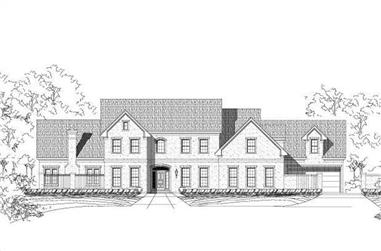 5-Bedroom, 5613 Sq Ft Luxury House Plan - 156-1528 - Front Exterior
