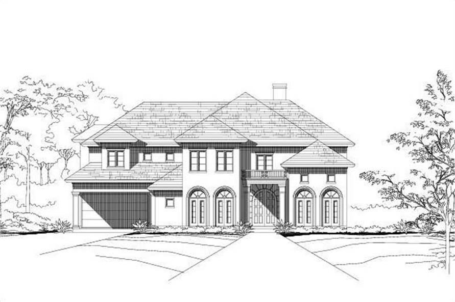 5-Bedroom, 4105 Sq Ft Mediterranean House Plan - 156-1529 - Front Exterior
