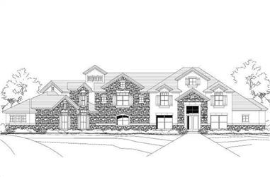 5-Bedroom, 5388 Sq Ft Country House Plan - 156-1530 - Front Exterior