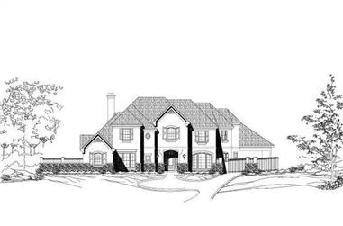 5-Bedroom, 5851 Sq Ft Luxury House Plan - 156-1531 - Front Exterior