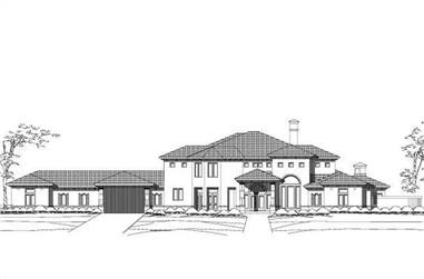 4-Bedroom, 6377 Sq Ft Luxury House Plan - 156-1533 - Front Exterior