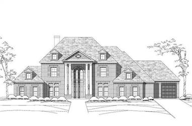5-Bedroom, 4693 Sq Ft Luxury House Plan - 156-1534 - Front Exterior