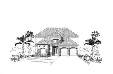 4-Bedroom, 4148 Sq Ft Luxury Home Plan - 156-1535 - Main Exterior