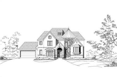 4-Bedroom, 4962 Sq Ft Luxury House Plan - 156-1536 - Front Exterior