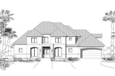 5-Bedroom, 4332 Sq Ft Mediterranean Home Plan - 156-1537 - Main Exterior