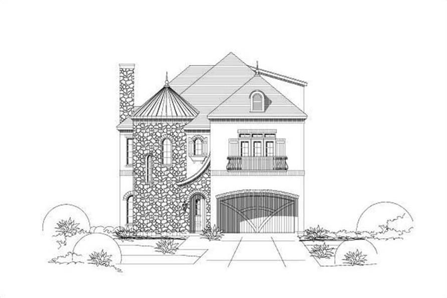 4-Bedroom, 3167 Sq Ft Tuscan Home Plan - 156-1538 - Main Exterior