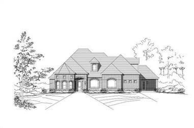 3-Bedroom, 2793 Sq Ft Ranch House Plan - 156-1539 - Front Exterior