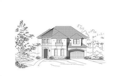4-Bedroom, 3688 Sq Ft Mediterranean House Plan - 156-1541 - Front Exterior