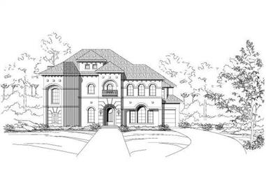 3-Bedroom, 5149 Sq Ft Luxury Home Plan - 156-1542 - Main Exterior