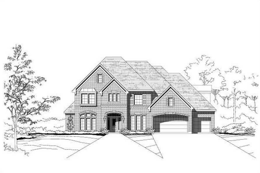 Main image for traditional house plans # 19212