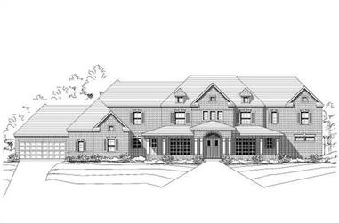 4-Bedroom, 4546 Sq Ft Luxury House Plan - 156-1545 - Front Exterior
