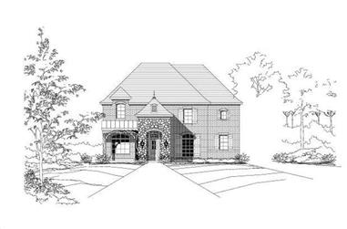 6-Bedroom, 3983 Sq Ft Luxury House Plan - 156-1546 - Front Exterior