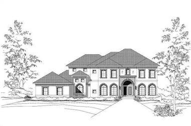 4-Bedroom, 3801 Sq Ft Mediterranean Home Plan - 156-1548 - Main Exterior