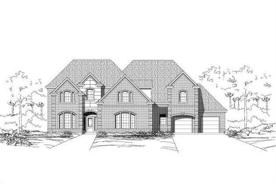 5-Bedroom, 4920 Sq Ft Luxury House Plan - 156-1550 - Front Exterior