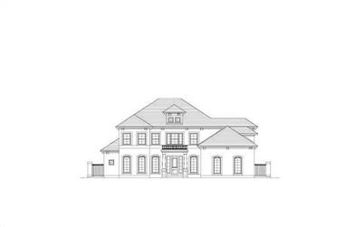 4-Bedroom, 4423 Sq Ft Mediterranean House Plan - 156-1553 - Front Exterior