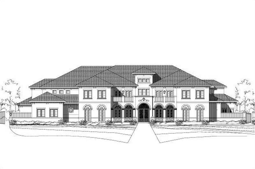 7-Bedroom, 10560 Sq Ft Luxury House Plan - 156-1554 - Front Exterior