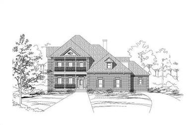 4-Bedroom, 3913 Sq Ft French Home Plan - 156-1555 - Main Exterior