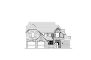 4-Bedroom, 2863 Sq Ft Traditional House Plan - 156-1557 - Front Exterior